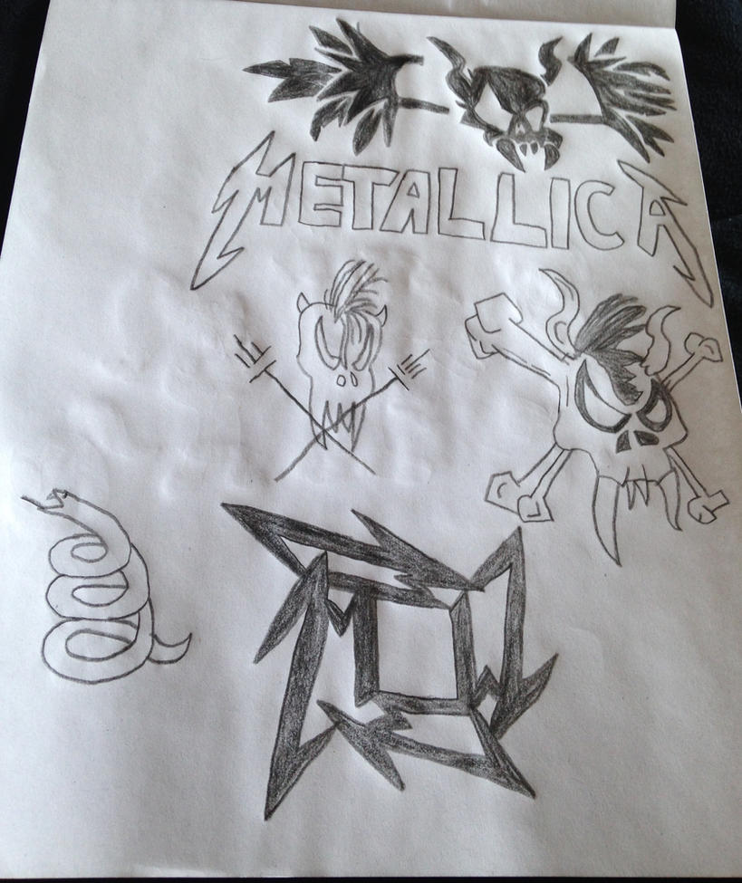 My Metallica drawings  by Prince5s