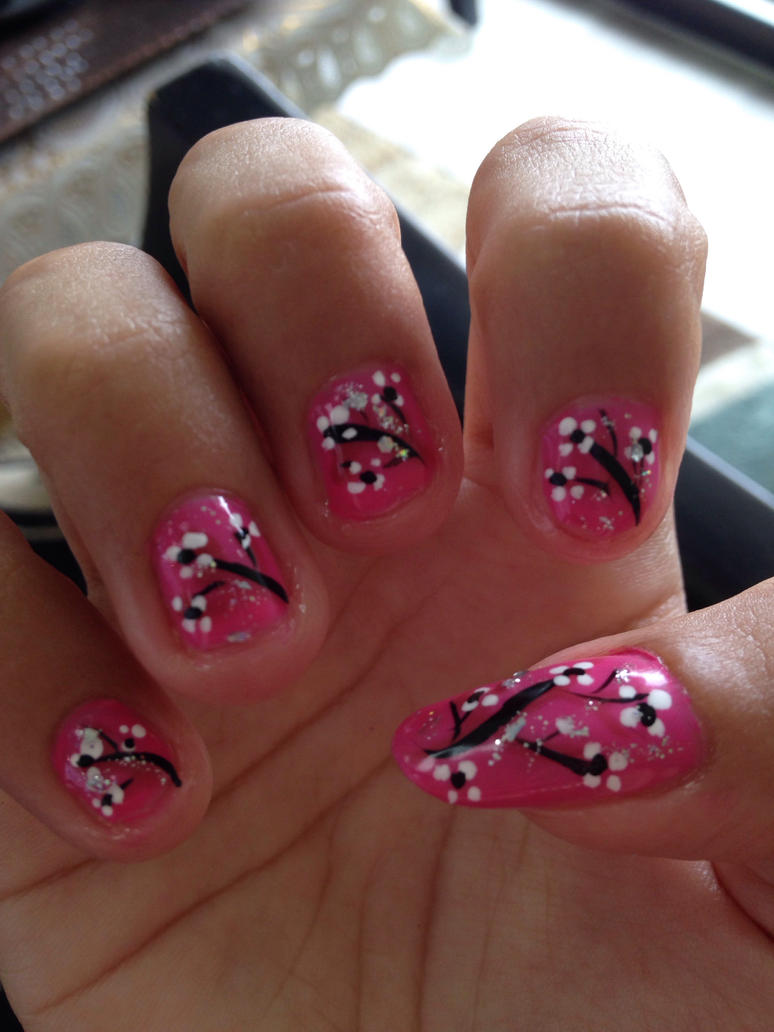 Cherry Blossom nails  by Prince5s
