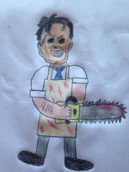 Halloween drawings: Leatherface by Prince5s