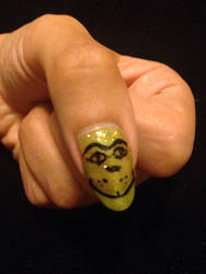 Grinch nail art  by Prince5s