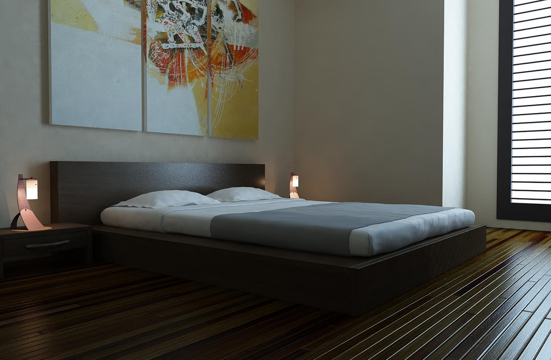 simple bedroom by ryan mahendra on deviantart