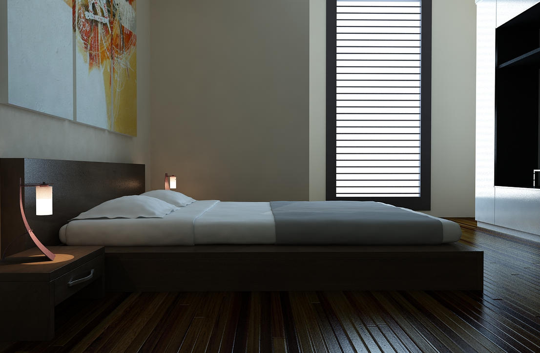 Simple bedroom by ryan mahendra on deviantart for Interior design bedroom images free download