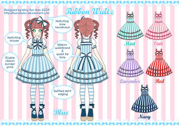 Ribbon Waltz Lolita Design by kurokumo
