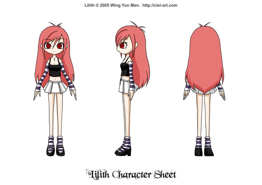 Lilith Character Sheet by kurokumo
