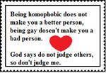 Homophobic judgmental people