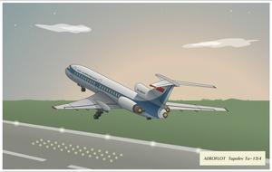 Tu-154, Aeroflot by Siiilent