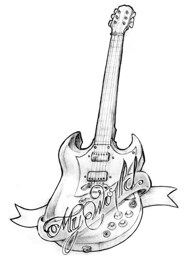 tattoo gibson sg my world by mvrh on deviantart. Black Bedroom Furniture Sets. Home Design Ideas