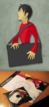 Red Guy With Portfolio