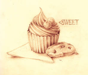 Cupcake and Cookies in Pencils