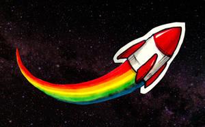 Rainbow Rocket by MVRH