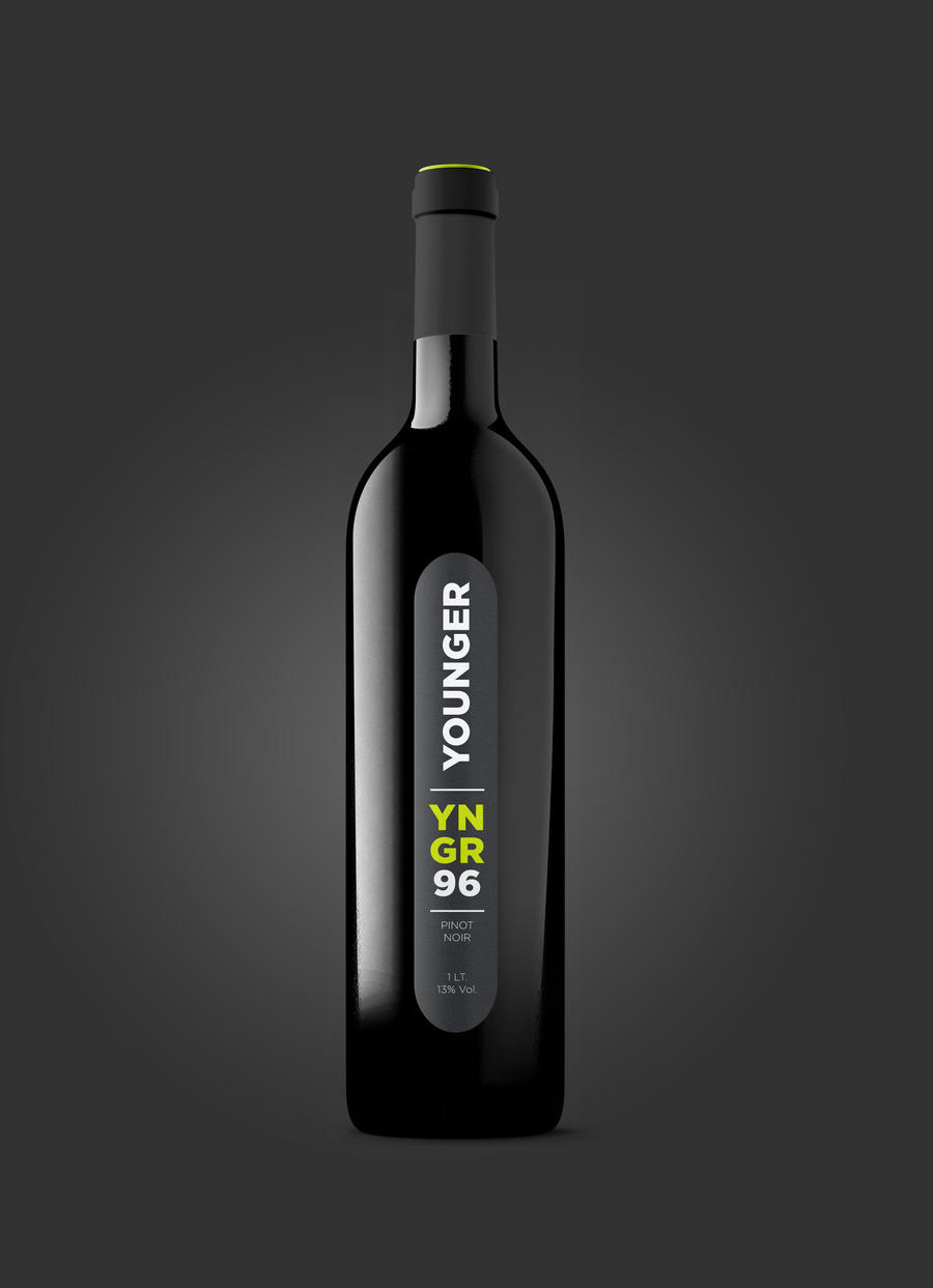 Label Design -  Younger Wine by MVRH