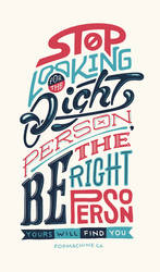 Right Person - Lettering