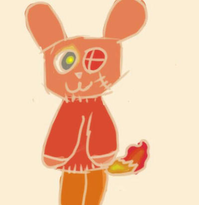 Flame Rabbit by NoCakeLeftBehind