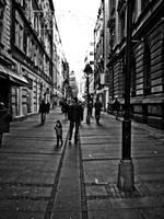Walking down the street by UrosKrunic