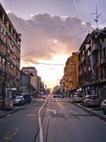 Urban sunset by UrosKrunic