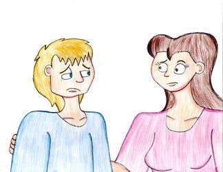 Sad TC, Concerned Becky by TrainsAndCartoons