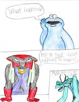 O Face Cookie Monster + Angry Brak by TrainsAndCartoons