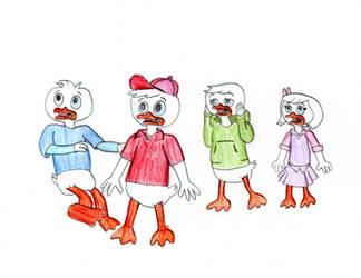 O Face Nephew Ducks + Webby by TrainsAndCartoons
