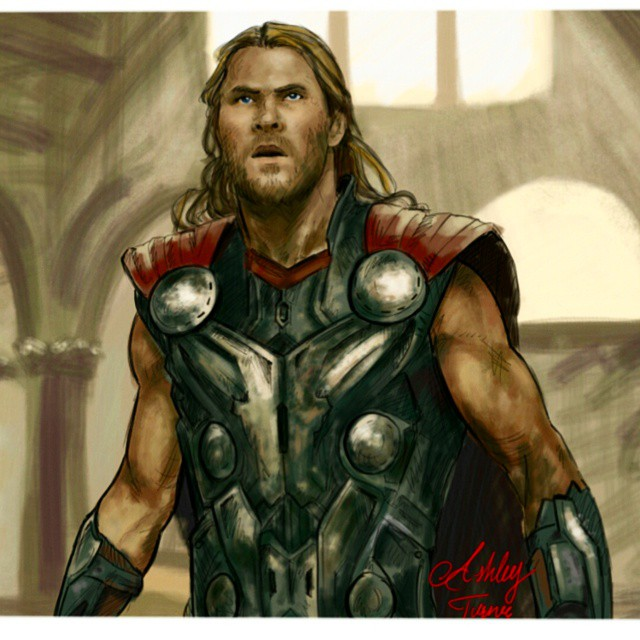 Avengers Age Of Ultron By Iloegbunam On Deviantart: Thor Avengers Age Of Ultron By Ashleysartwold On DeviantArt