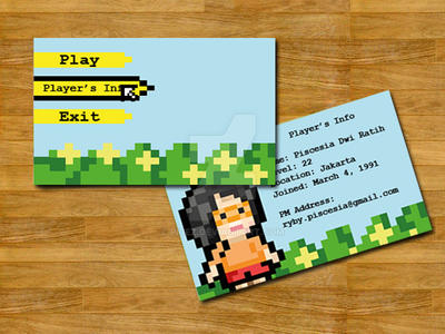 Pixel art on name card by picez on deviantart for Business card pixels