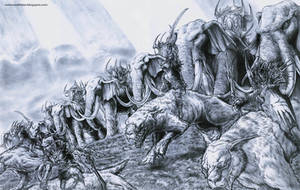 WARGS AND ORCS by octopusdesenhos