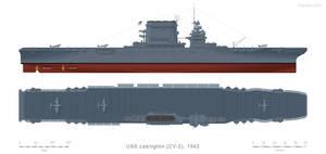 USN Aircraft Carrier LEXINGTON, CV-2