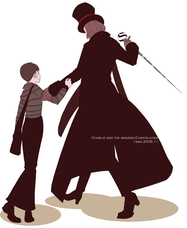 Charlie and Mr. Wonka by pippipippitama