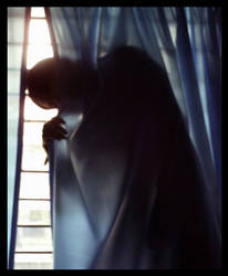 lady in the curtain by lonelyghost