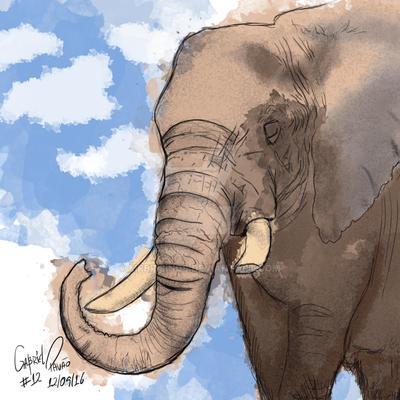 Sumatran Elephant by MrBrisings
