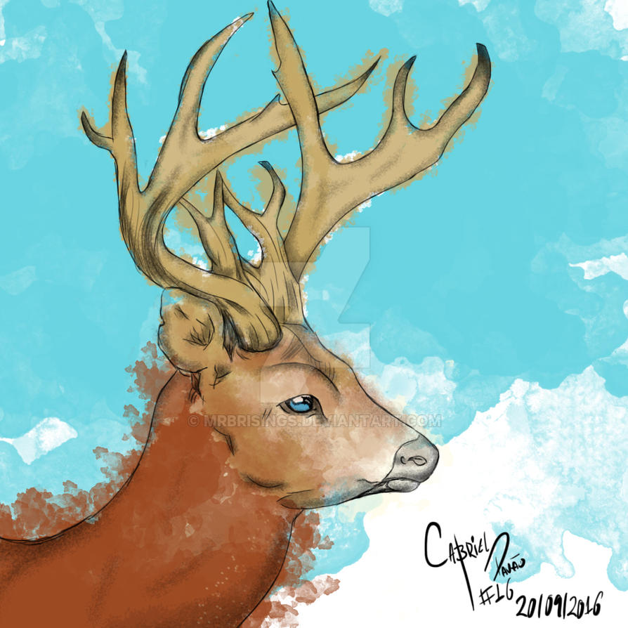 Marsh Deer by MrBrisings