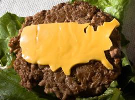 American Food: Cheese Burger by Elijah-Snow