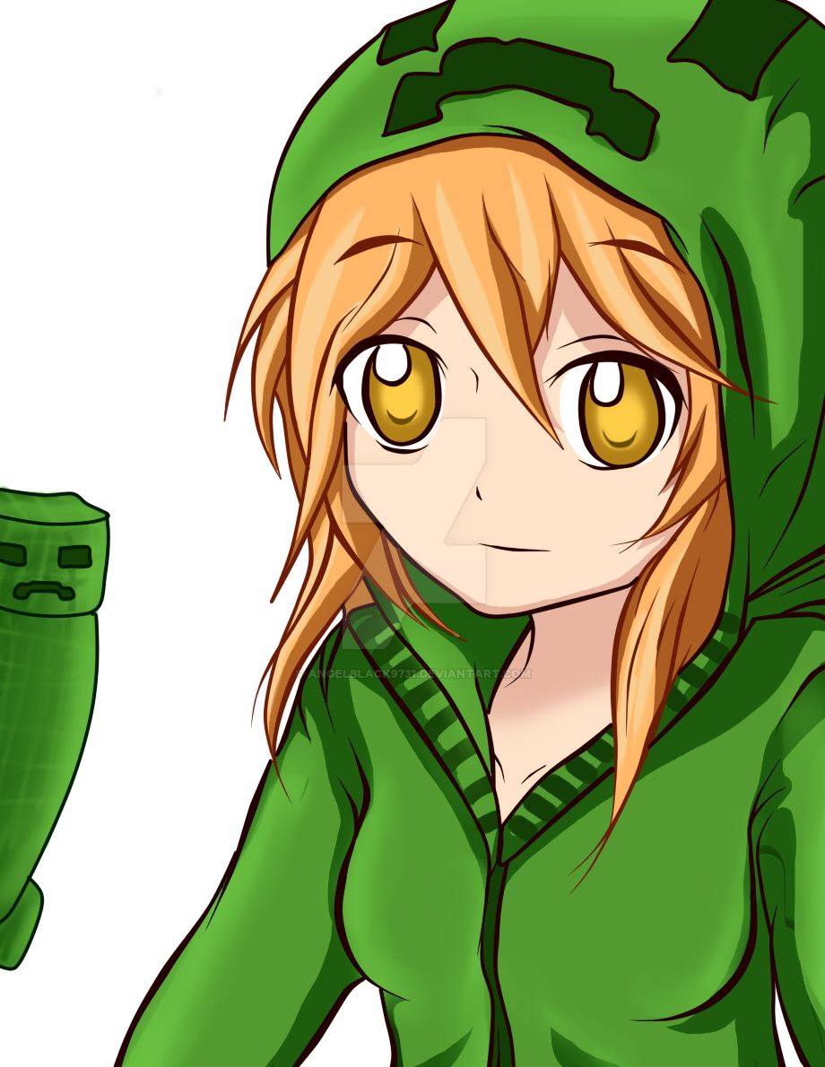Creeper girl re dibujo by angelblack9731 on deviantart - Creeper anime girl ...