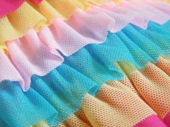 Rainbow Ruffle by KellyAliceLoliCotton