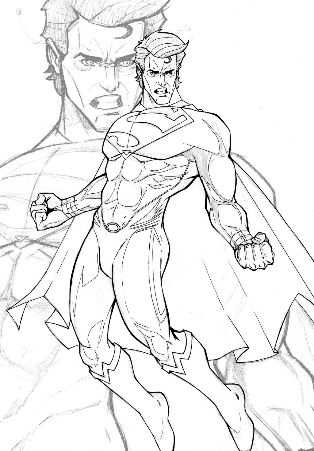Man of steel wip 2 by spidertof for Man of steel coloring pages