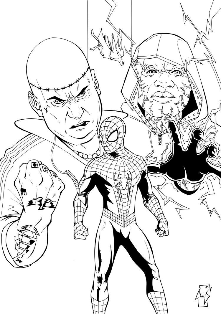 Amazing spiderman 2 lines by spidertof on deviantart for Amazing spiderman 2 coloring pages