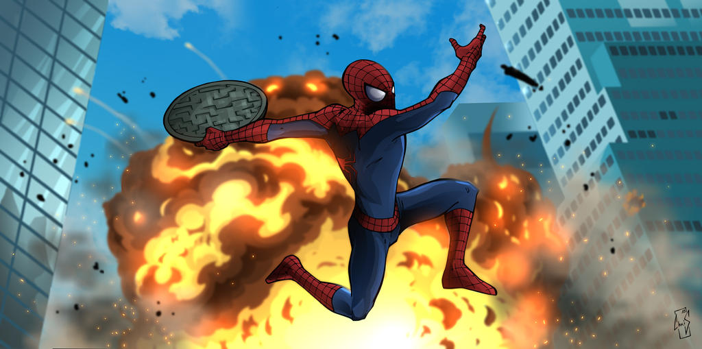 The Amazing Spiderman 2 : Explosion by Spidertof