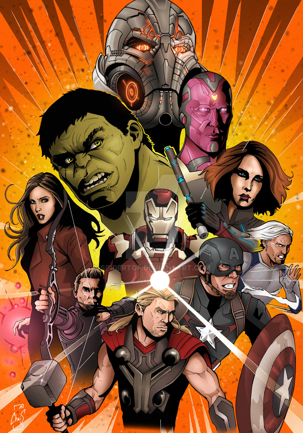 Avengers Age Of Ultron By Iloegbunam On Deviantart: Age Of Ultron By Spidertof On DeviantArt