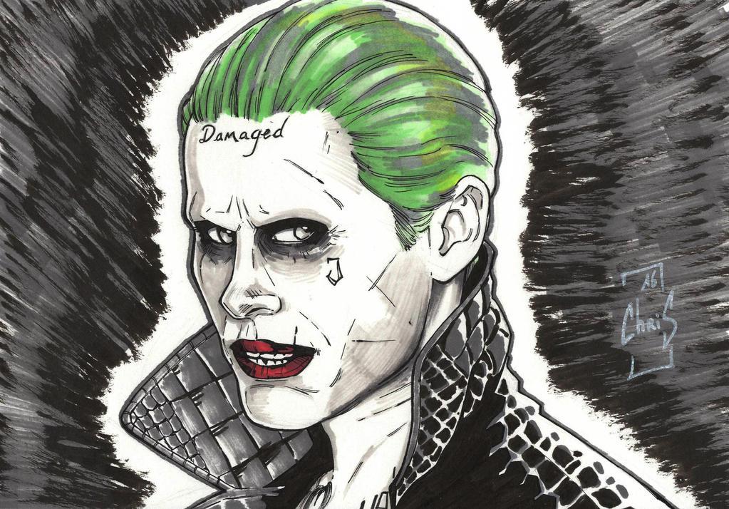 Joker Scribble Drawing : Jared leto s joker by tovmauzer on deviantart