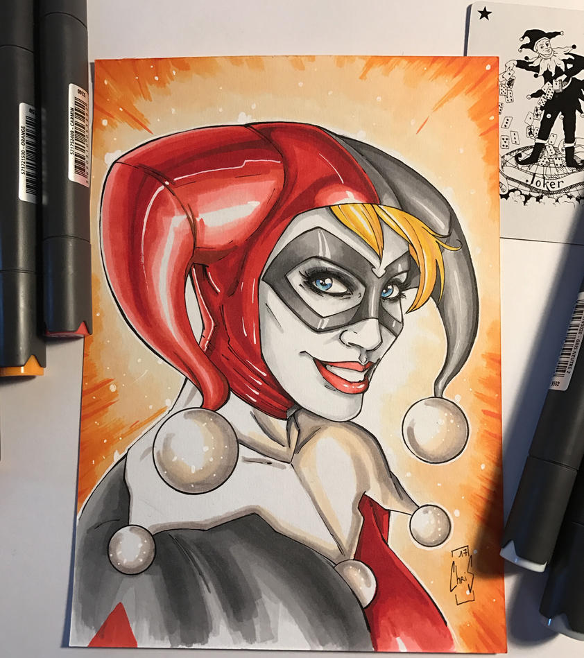 Harley Quinn - Markers by Spidertof