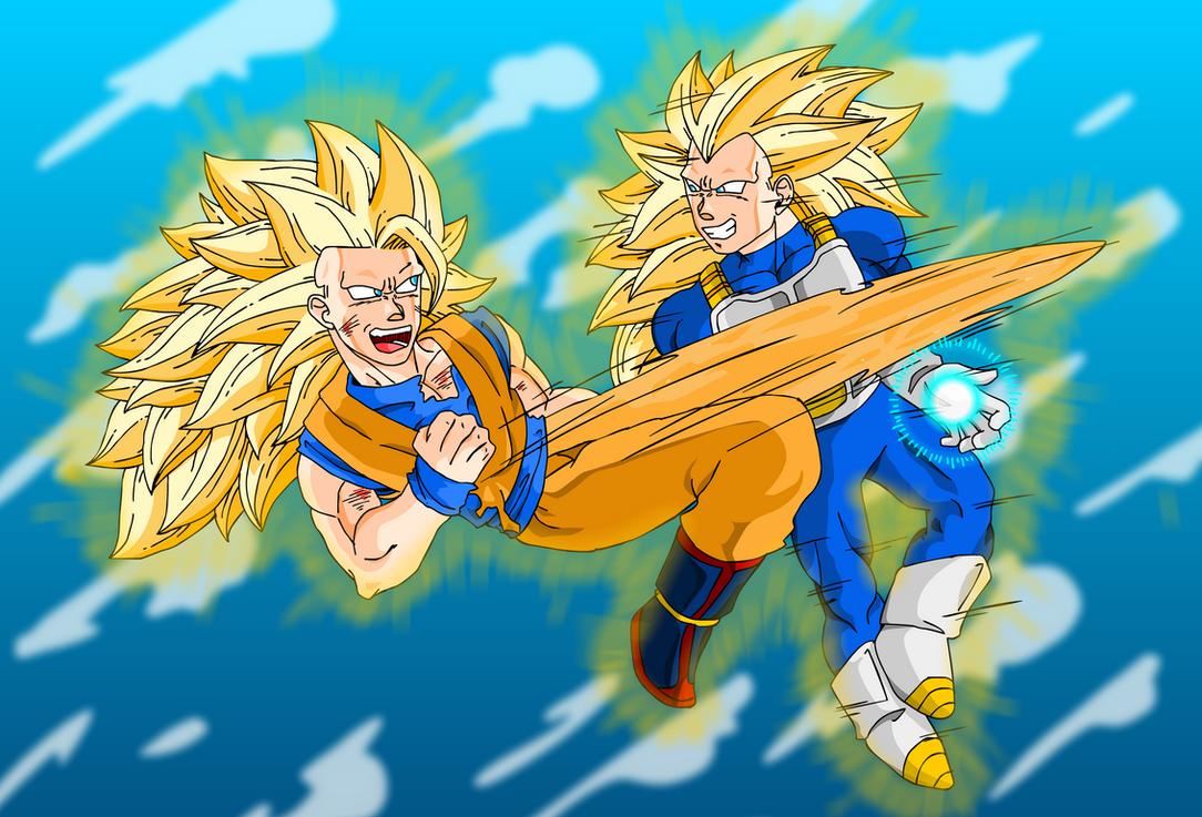 SSJ3 Goku Vs Vegeta