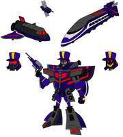 Animated Astrotrain by AleximusPrime