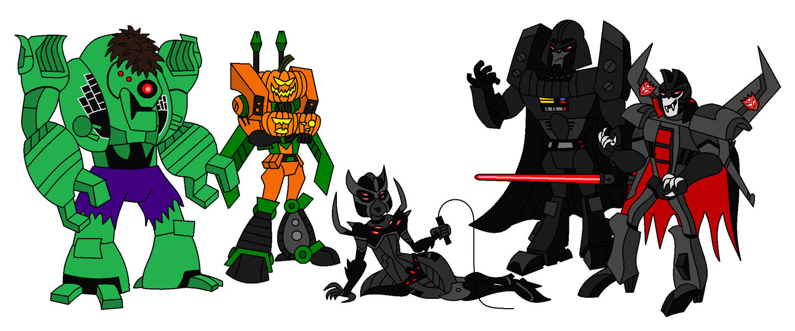 Halloween Decepticons by AleximusPrime