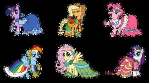 Ponies in Gala Dresses