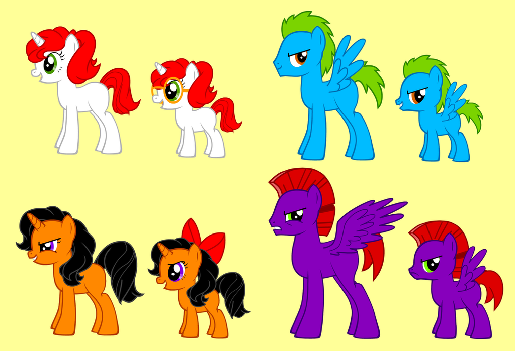 my ocs in the pony creator by aleximusprime on deviantart