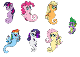 My Little Seaponies by AleximusPrime