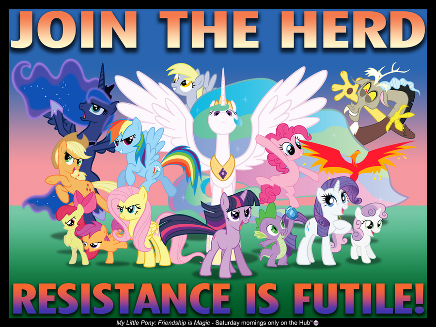 """Join the Herd"" poster by AleximusPrime"