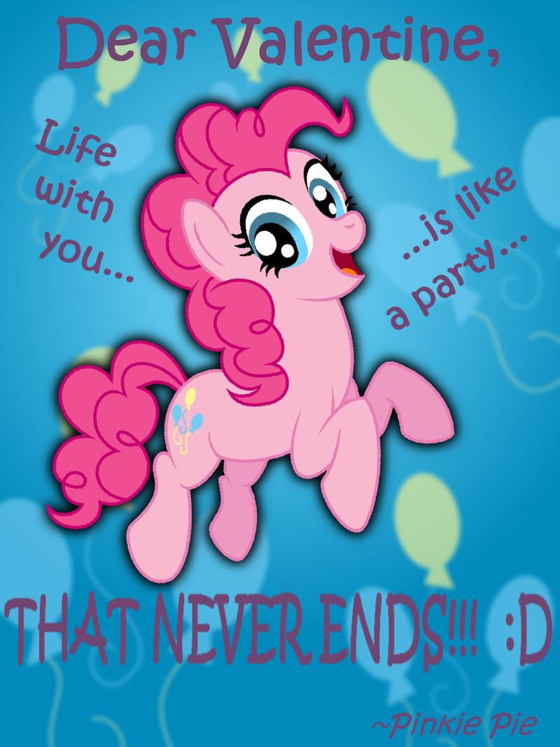 Pinkie Pie Valentine's Day Card by AleximusPrime