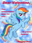 Rainbow Dash Valentine's Day Card