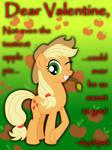 Applejack Valentine's Day Card