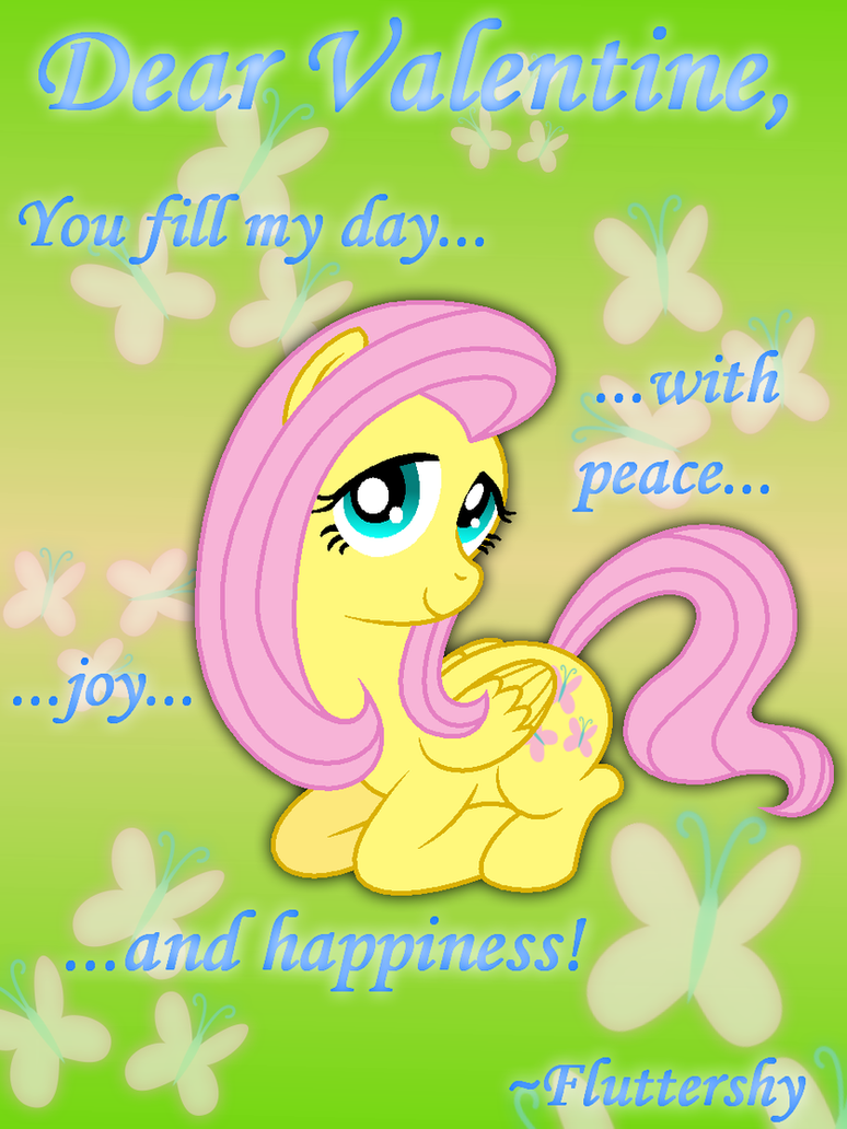 Fluttershy Valentine's Day Card by AleximusPrime